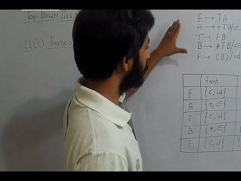 Compiler Design # LL1 parser # LL1 Parsing Table # Top Down Parser # Lecture 11 #