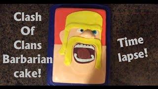 Clash Of Clans Barbarian Cake ... Time lapse!!! Walk Through