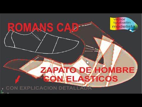 ROMANS CAD  DESARROLLO DE ZAPATO DE HOMBRE ELASTIZADO