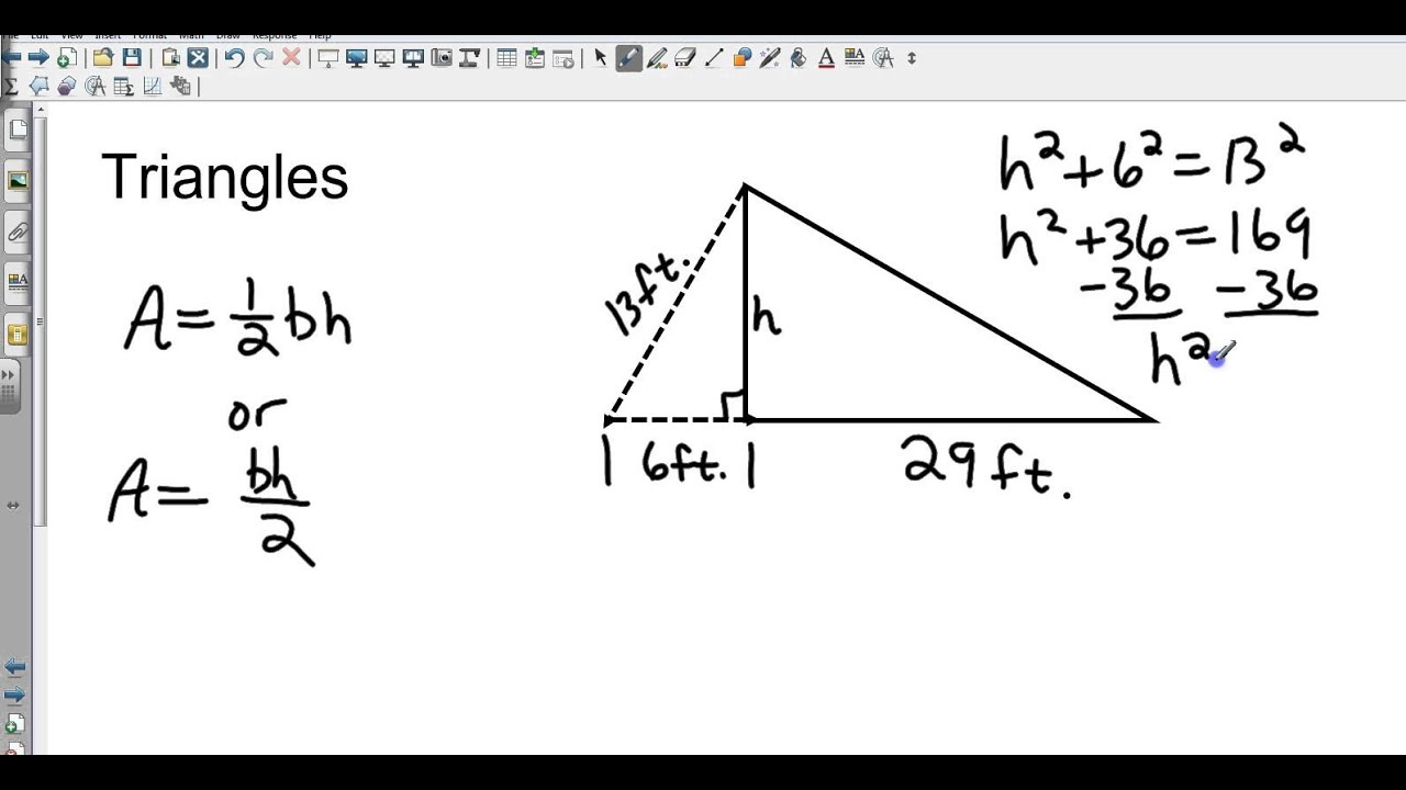 Geometry 11 1 And 11 2 Area Of Parallelograms Triangles Rhombi And
