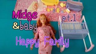 Barbie #vintage Revisión Set Midge & baby Happy Family (2003) pt.1