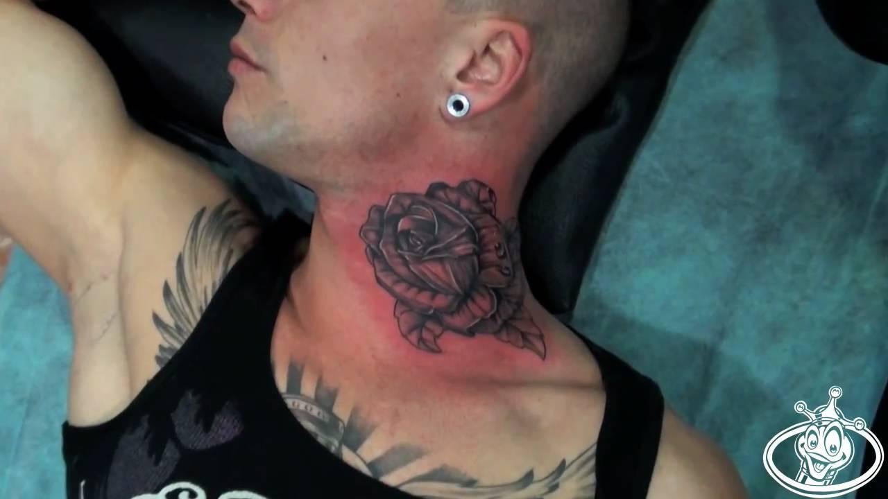 Neck Tattoo Youtube Duke103 Com Tattoo 2011 Neck Rose Youtube