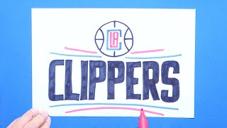 How to draw and color the LA Clippers logo - NBA Team Series