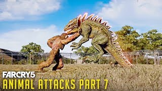 Gambar cover FAR CRY 5 - All Animal Attacks on BIGFOOT (Animal Attacks Part 7) Animals VS Yeti