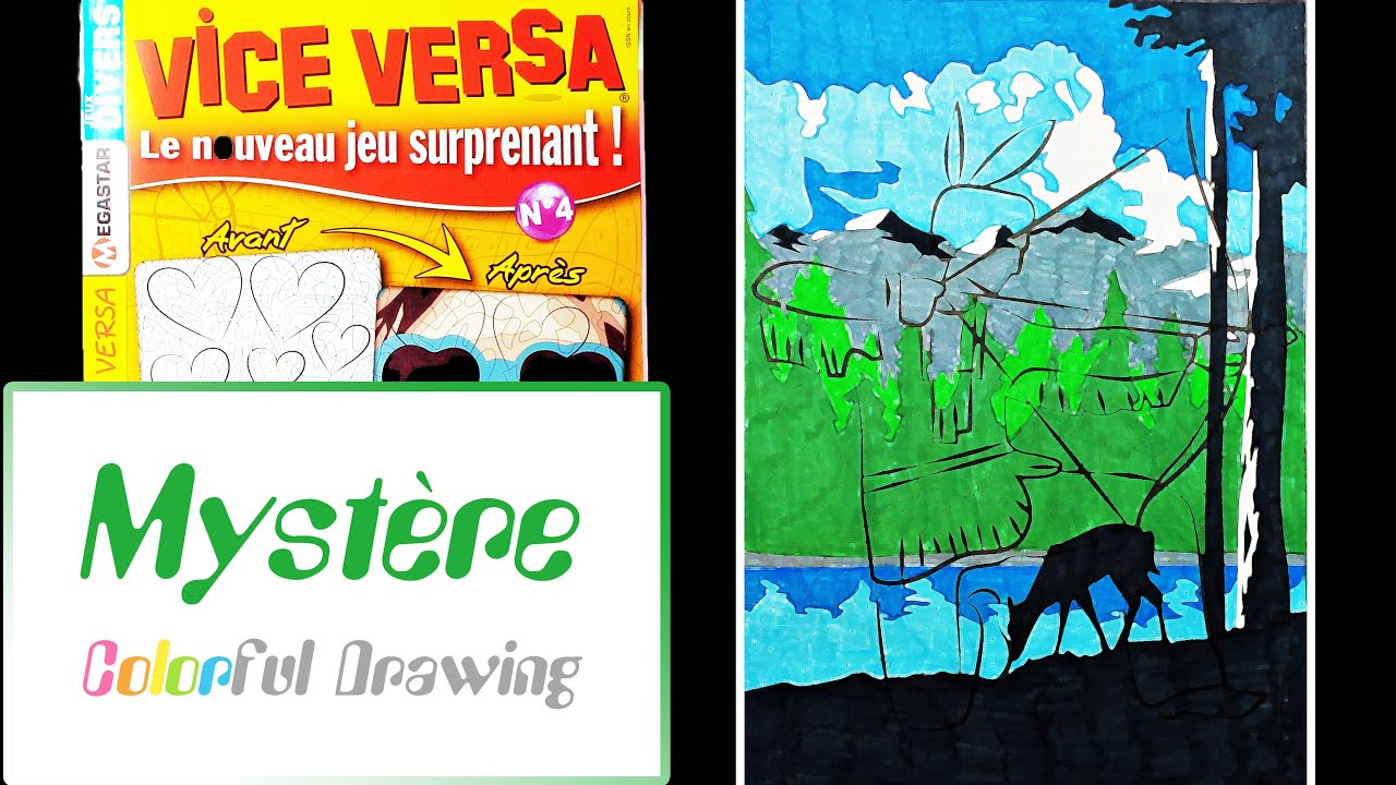 Coloriage Myst¨re n°3 Vice Versa n°4 Paysage de montagne
