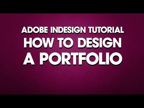 Indesign Tutorial How To Design Portfolio