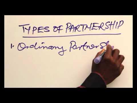 TYPES OF PARTNERSHIP PART 1