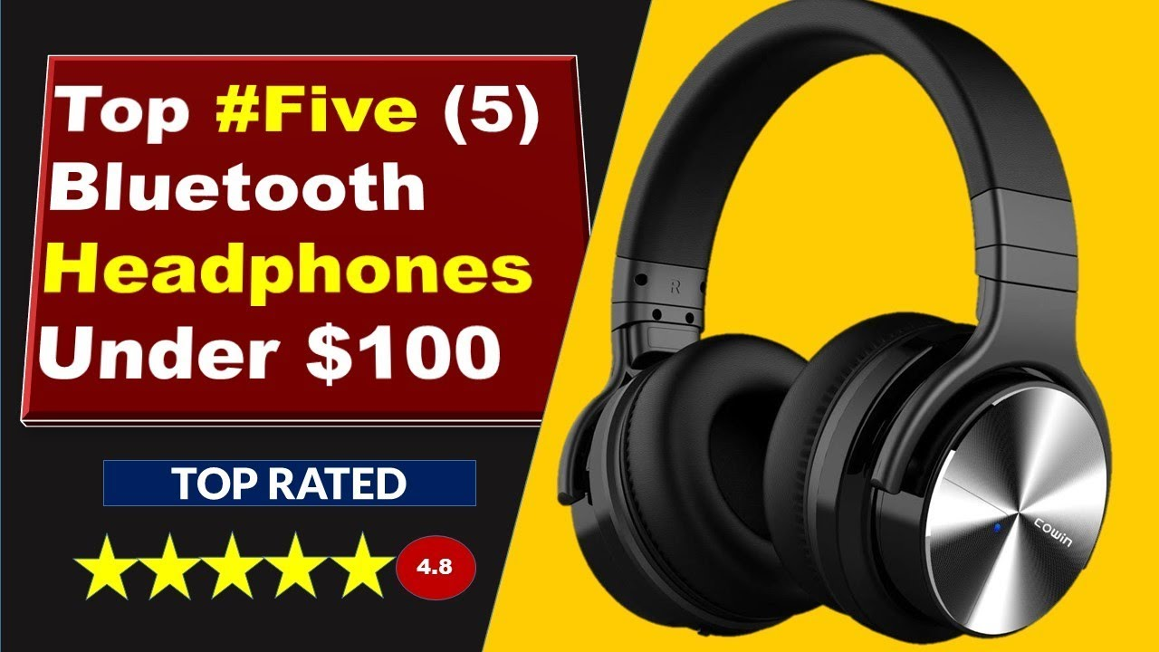 Best Bluetooth Headphones Under 100 Noise Cancelling Headphones Over Ear Wireless Bluetooth Headset Youtube