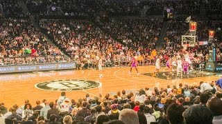 Los Angeles Lakers Brooklyn Nets NBA game Barclays Center, Brooklyn, New York