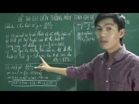 Đề thi đại học liên thông môn Toán, ĐH Điều Dưỡng - Nam Định (năm 2012-phần 1)