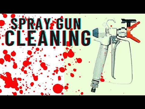 Graco Magnum X5: How to Clean Paint Sprayer Gun- Graco Magnum Project Painter Plus SG2 Spray Gun