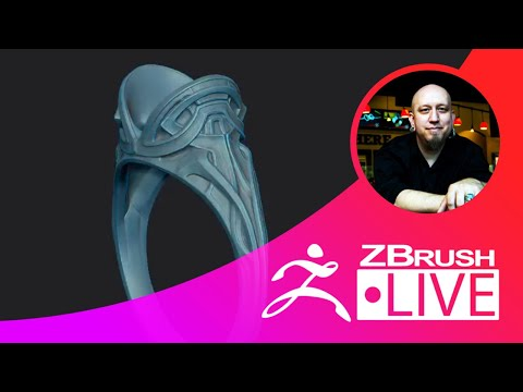 Jewelry Ring Design - Sculpting, 3D Printing, & ZBrush 2019 with T.S. Wittelsbach - Episode 48