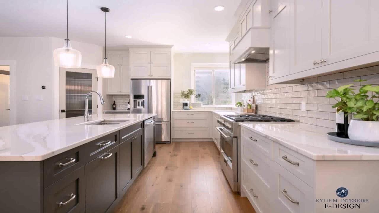 Kitchen Ideas With White Cabinets Dark Island Youtube