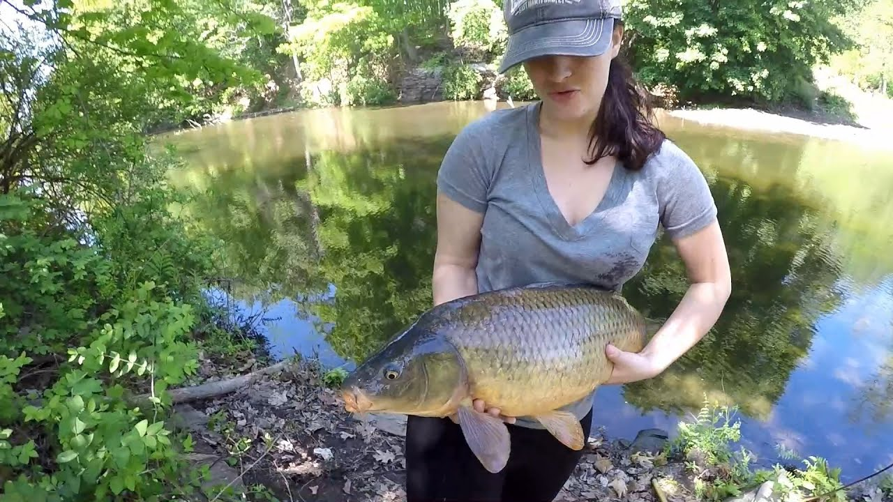 Megans First Carp Fishing For Big Carp In The