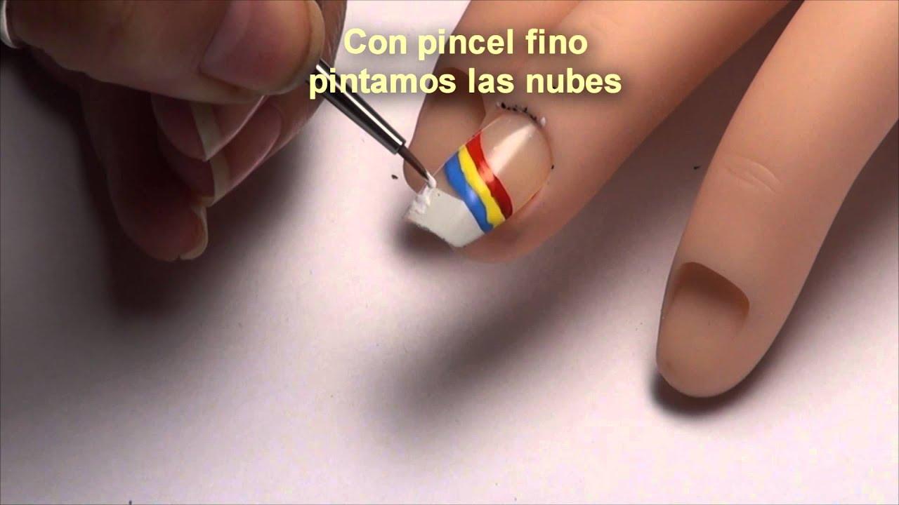 Nail art designs, rainbow( Diseño de uñas, arcoiris) - YouTube