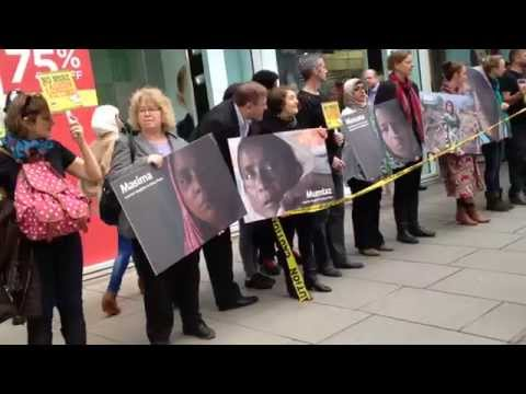 Rana Plaza anniversary: Social justice campaigners protesting outside Gap flagship store in London