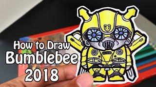 Easy Draw Bumblebee | How to draw Bumblebee 2018 - Transformer - MiniChibi - Cute Easy and Fun!