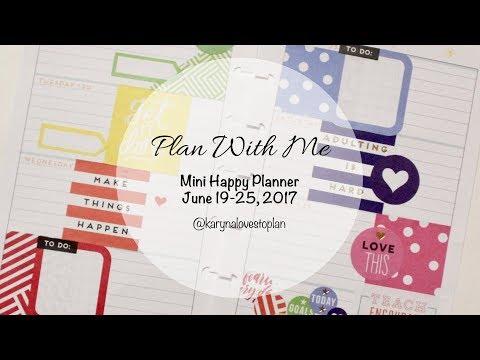 Plan With Me Mini Happy Planner (Rainbow): June 19-25, 2017
