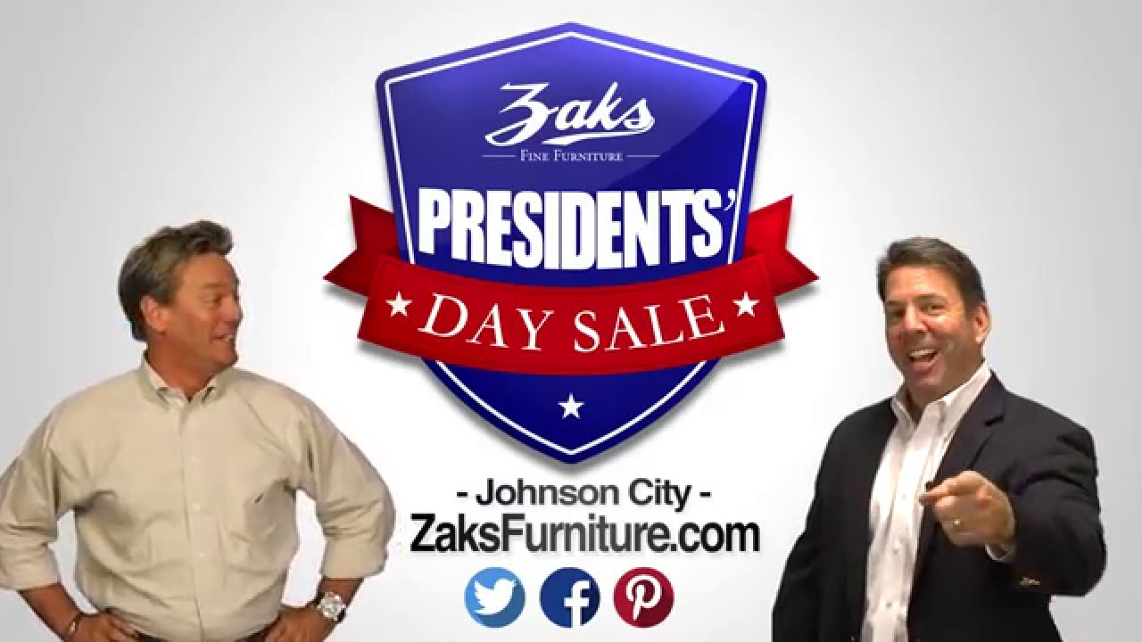 Zaks furniture presidents 39 day sale 2016 youtube for Presidents day furniture sales