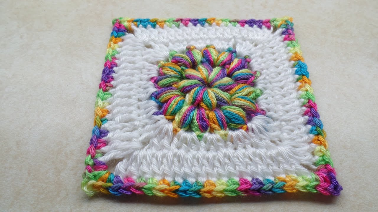 Crochet How To #crochet Puff Circle Granny Square #tutorial #210 Learn  Crochet  Youtube