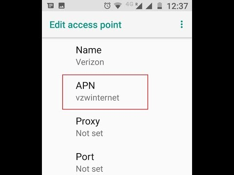 Verizon 4G LTE APN Settings For Android Galaxy