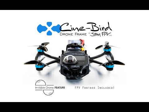 Cine-Bird INVISIBLE 360 DRONE Test Footage - Raw Reframe with FPV View