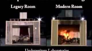 Brandentstehung im Vergleich eines neuen und alten Raumes
