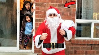 Funny Kids & Santa Claus Christmas Toy Present Delivery!!