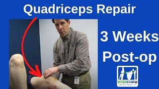 Quadriceps rupture 3 weeks post repair