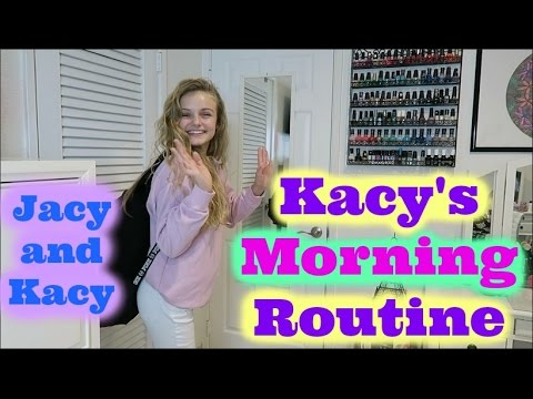 Thumbnail: Kacy's School Morning Routine 2017 ~ Jacy and Kacy