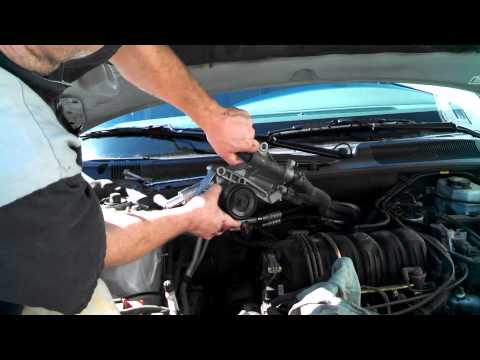 Coolant elbows tubes replacement Buick Lesabre 2003 3800  Install Remove Replace How to change