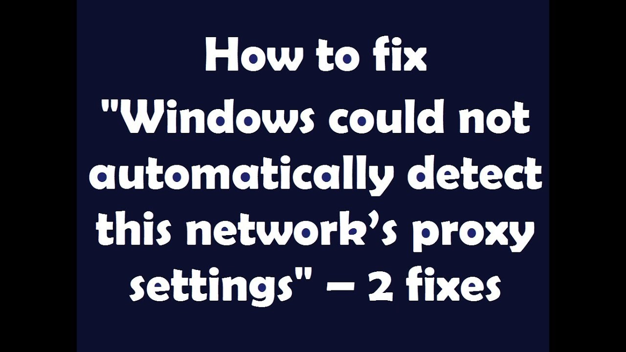 windows could not automatically