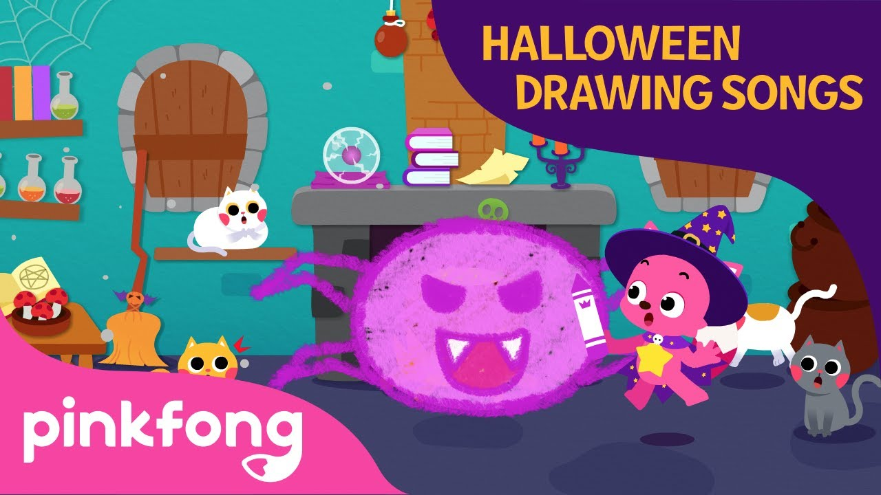 A Baby Spider | Halloween Drawing Songs | Pinkfong Songs for Children