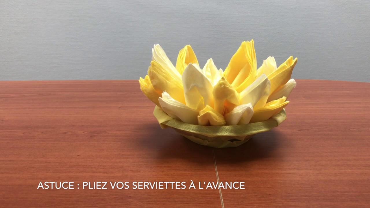 tutoriel pliage de serviette ananas youtube. Black Bedroom Furniture Sets. Home Design Ideas