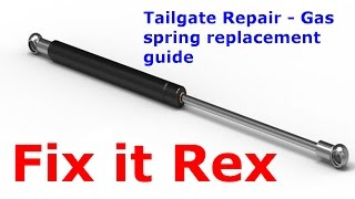 Tailgate Repair - Gas Spring Replacement Guide (step by step)