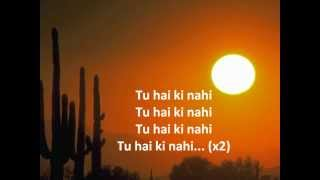 Tu hai ki nahi karaoke with lyrics