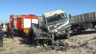 هلاك ثمانية أشخاص في حادث مرور مروع بالجلفة