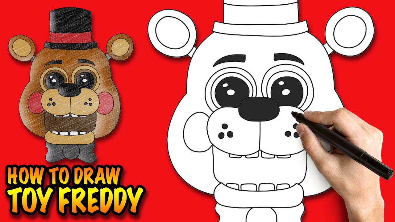 How to draw fnaf freddy steps - How to draw toy freddy fnaf easy step by step drawing lessons youtube