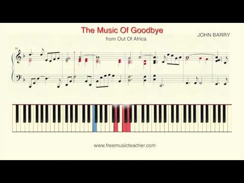 "How To Play Piano: ""The Music Of Goodbye"" from Out Of Africa Piano Tutorial by Ramin Yousefi"