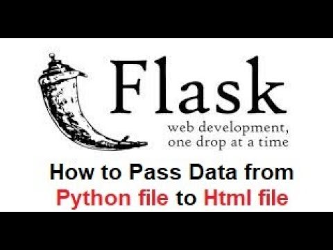 How To Pass Data From Python File To Html File Using Flask Framework !