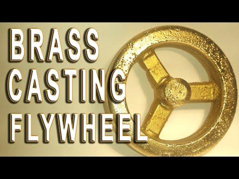 Brass casting #12 Moldmaking & Casting the flywheel