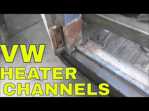 DIY vw heater channel replacement vw rust repair the easy way no drilling
