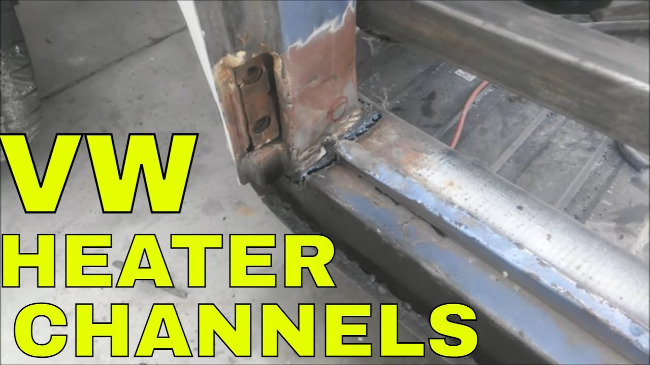 DIY vw heater channel replacement vw rust repair the easy way no drilling  YouTube