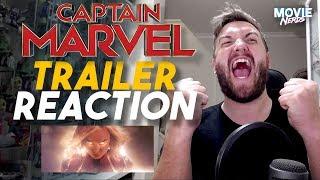 Marvel Studios' Captain Marvel - Official Trailer REACTION