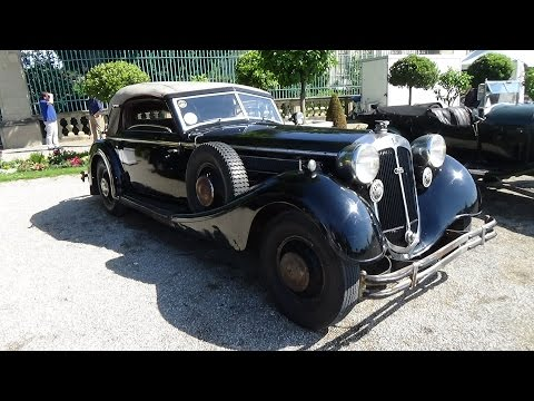 1937, Horch 853 Sport Cabrio, Exterior and Interior, Retro Classics meets Barock 2015 Ludwigsburg