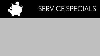 service-menu Service Specials