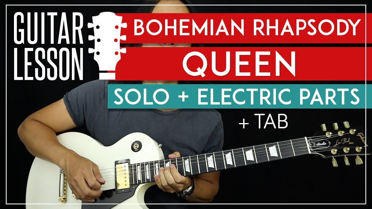 bohemian rhapsody solo guitar tutorial electric riffs queen lesson tabs all guitar. Black Bedroom Furniture Sets. Home Design Ideas