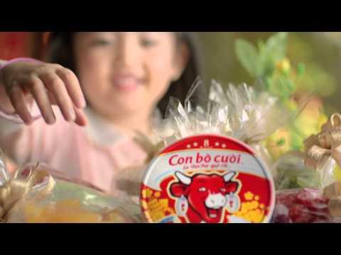 Quảng cáo phô mai Con Bò Cười Tết 2014 - Trao gửi nụ cười Tết, gắn kết những yêu thương