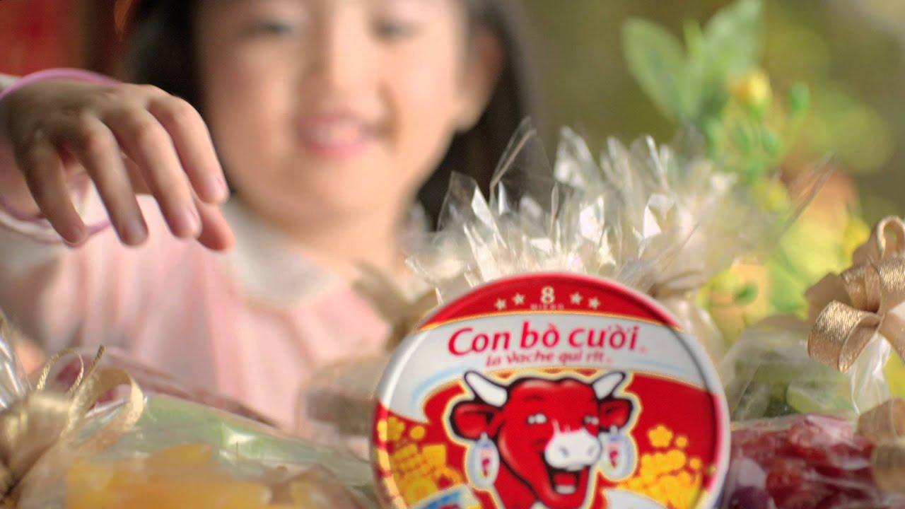 Quảng cáo phô mai Con Bò Cười Tết 2014 – Trao gửi nụ cười Tết, gắn kết những yêu thương