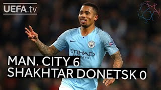 MAN. CITY 6-0 SHAKHTAR DONETSK #UCL HIGHLIGHTS